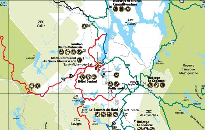 Quad trail map