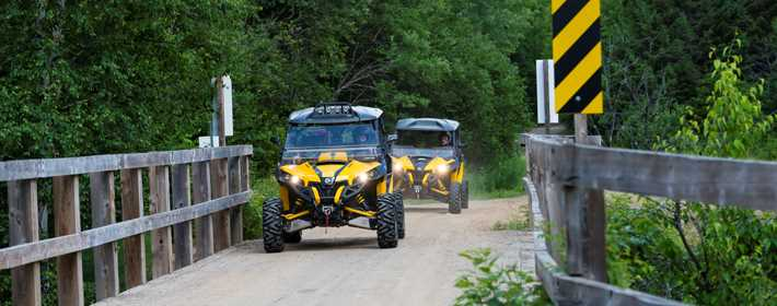 Quad trail at Saint-Donat