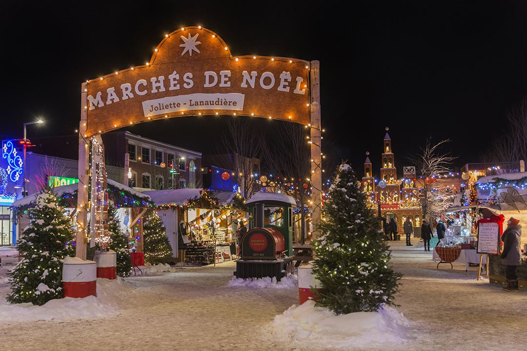 Christmas market of Joliette