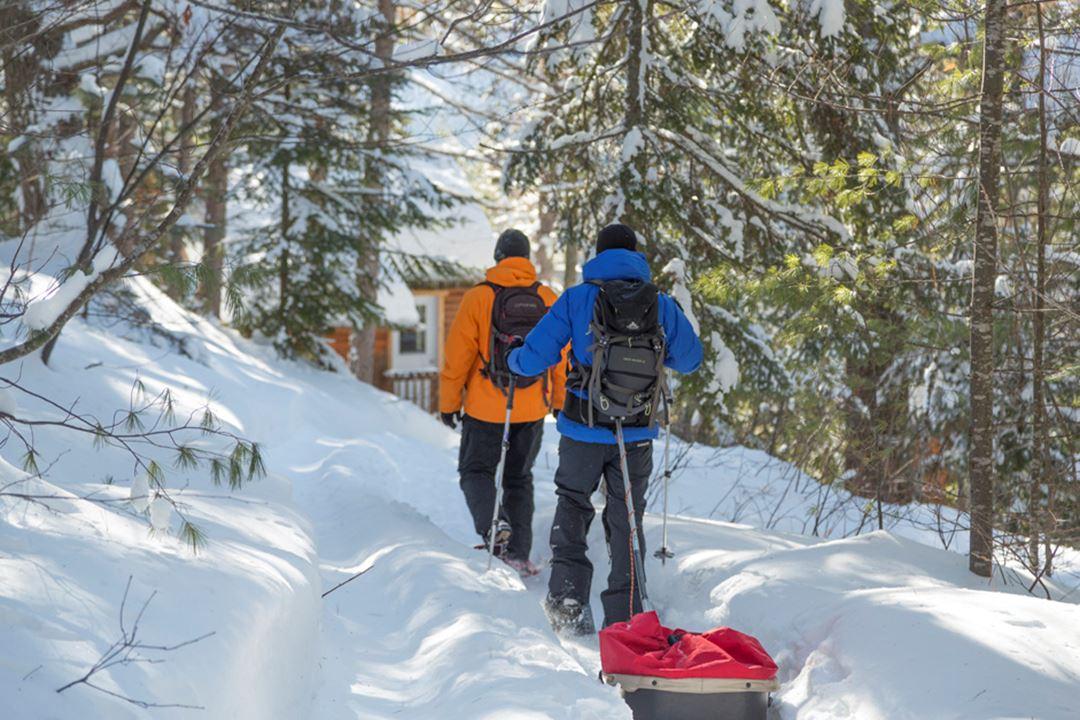 Snowshoeing at Regional Park Chute-à-Bull