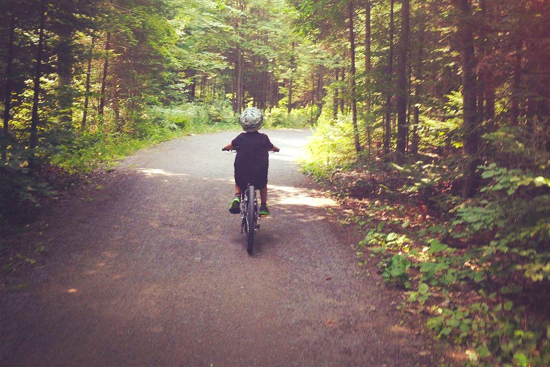 The bike paths in Joliette