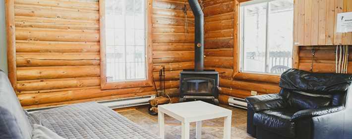 L'intérieur d'un chalet à Plein Air Lanaudia