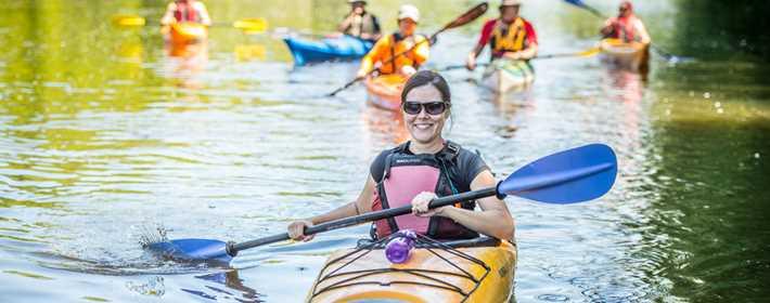 Faire du kayak sur la rivière L'Assomption
