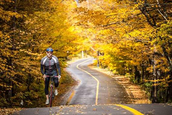 Bicycling at Saint-Donat