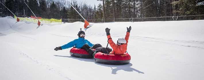 Go to the slides at Ski Montcalm