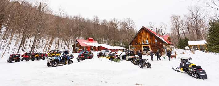 To ski-doo at Auberge Rond