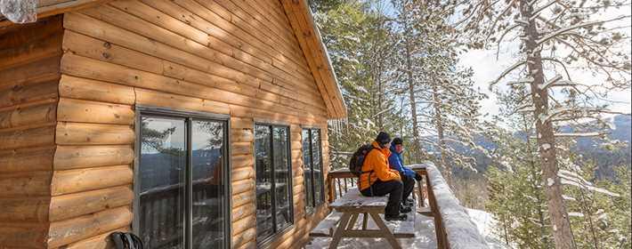 Un refuge dans le parc régional de la Chute-à-Bull