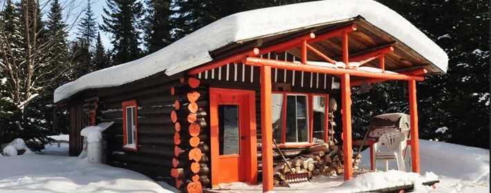 Une cabane dans la pourvoirie Pavillon Basilières