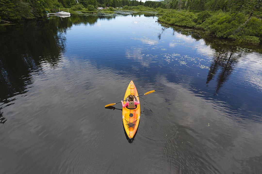 Faire du kayak à Saint-Donat