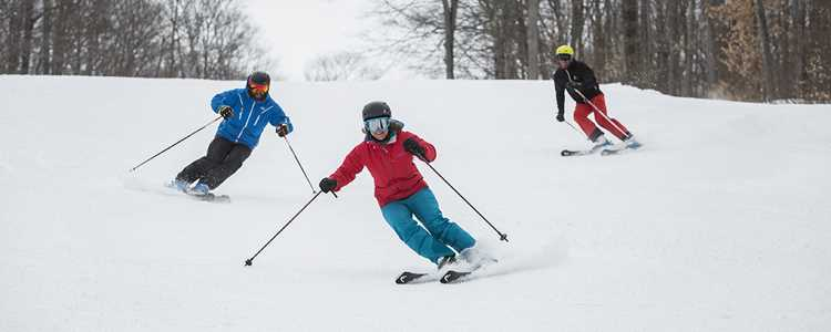 Skieurs à Ski Montcalm