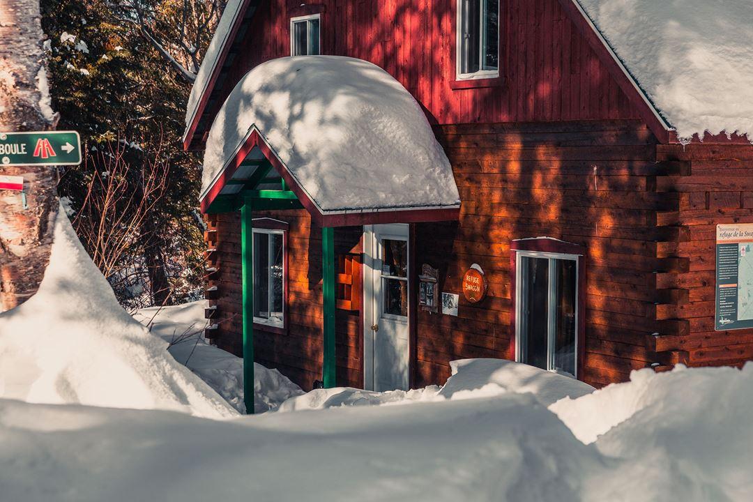 Le refuge Swaggin en hiver