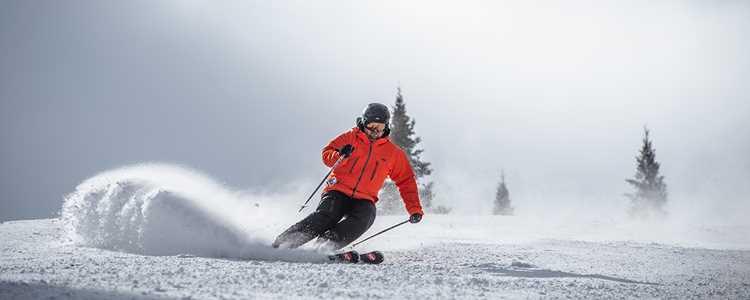 Skier at the ski resort La Réserve