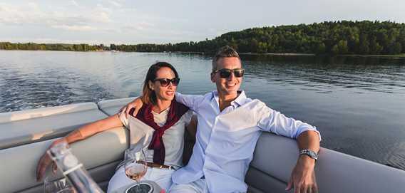 Balade en ponton sur le Lac Taureau