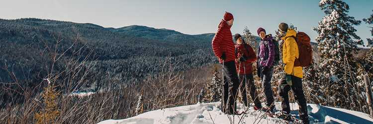 Snowshoeing group at Mont-Tremblant National Park